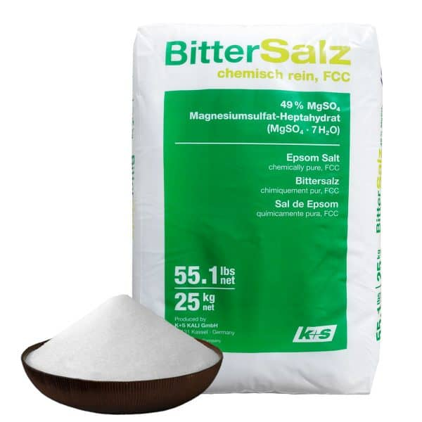 All natural and organic Epsom salts for bathing detox gardening cosmetics and more