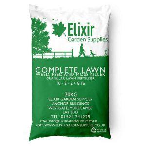 Complete lawn elixir weedkiller moss killer fertiliser