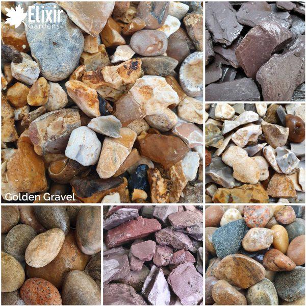 golden gravel decorative stone aggregate