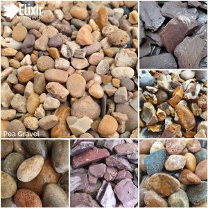 Pea gravel decorative stone aggregate for gardens driveways and more