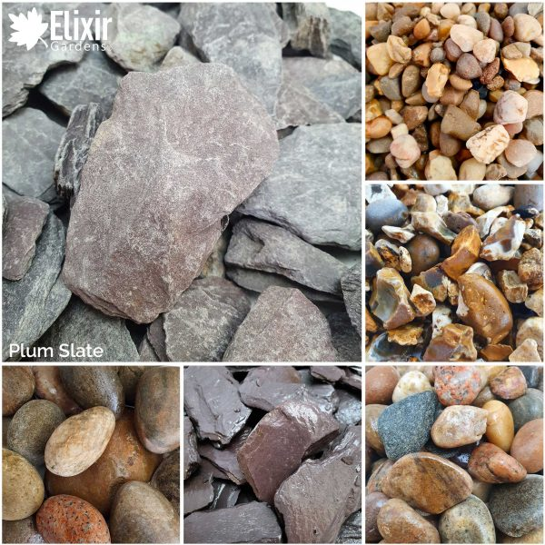 plum slate decorative stone aggregate