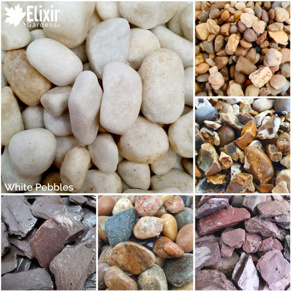 White Pebbles Decorative Stone for Garden