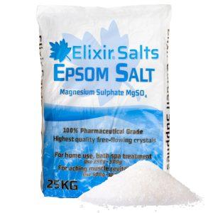 Epsom Salt 25kg bag ideal for bathing, health, beauty, gardening and more