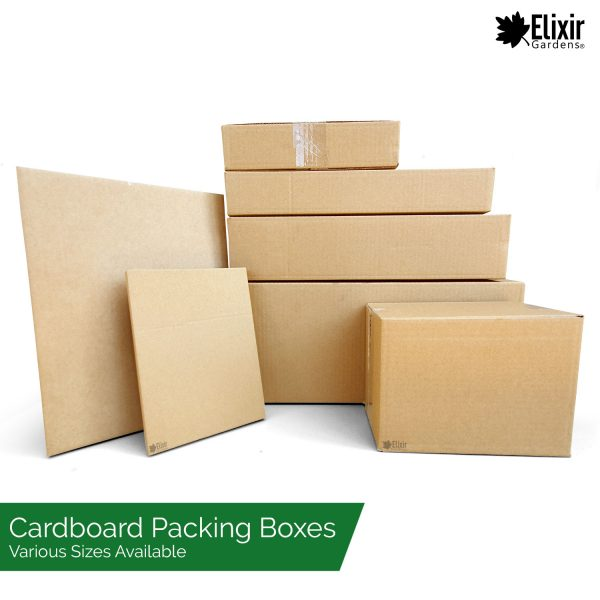 various cardboard storage boxes post packing and more
