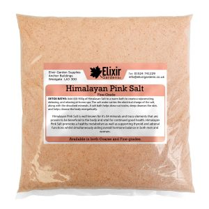 himalayan pink salt clear bag
