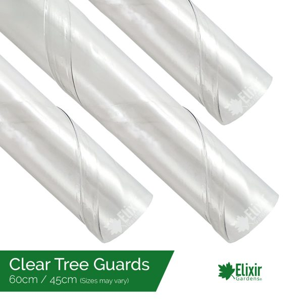 "Clear Tree Guards Protect From Pests, Weather and Chemicals 18"" 24"""