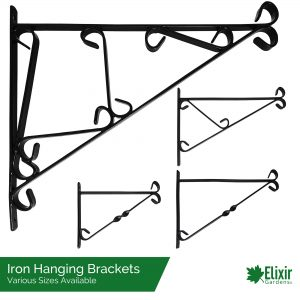iron hanging basket brackets