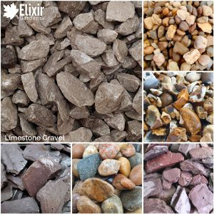 grey limestone gravel for garden paths, driveways and landscaping