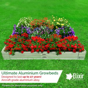 metal aluminium grow bed