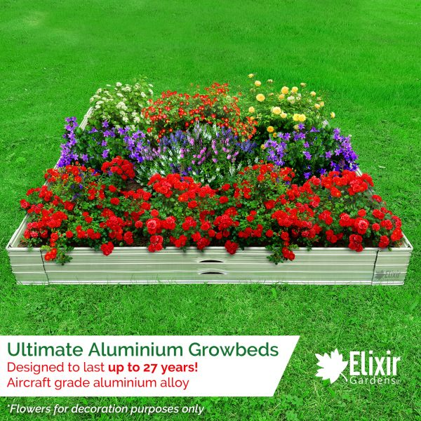 raised aluminium grow bed planter