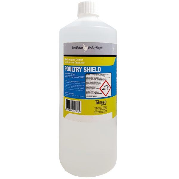 poultry shield multi-purpose cleaner sanitiser and degreaser back of bottle